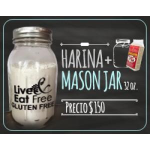 Harina multipropósito y Mason Jar 32 onzas