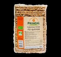 Galletas finas de quinoa y arroz