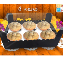 6 Pan de muerto individuales